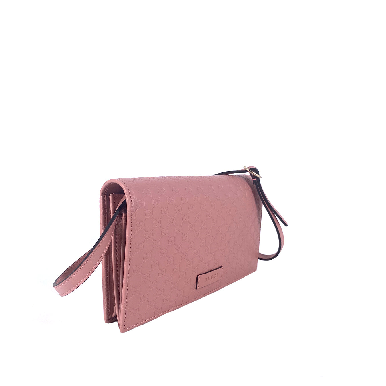 Gucci Microguccissima Leather Interlocking WOC Pink
