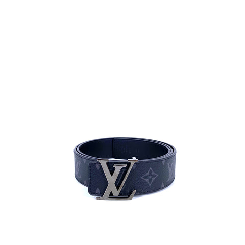 Louis Vuitton M9043S Monogram Eclipse Canvas LV Initiales 40 mm Reversible Belt