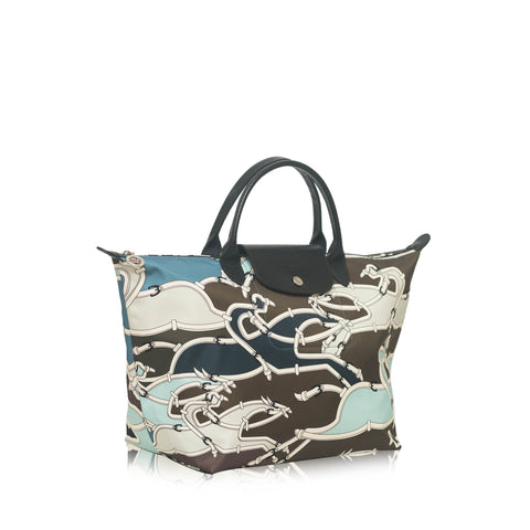 Le Pliage Galop Medium SH Tote Bag Pilot Blue