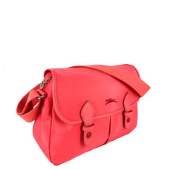 Longchamp Club Postman Messenger Bag in Light Red