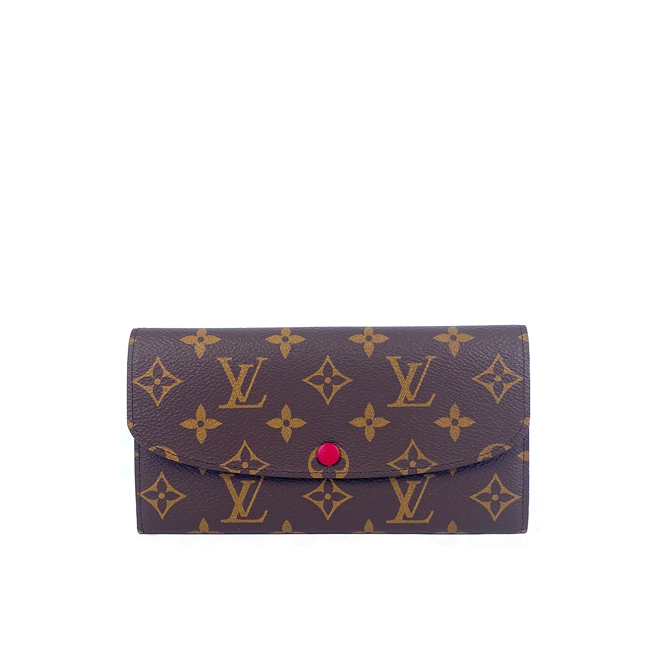 Emilie Wallet Monogram in Fuchsia