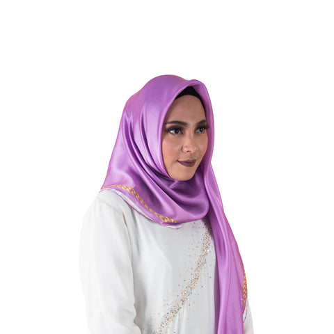 Soie Purple Chain Scarf