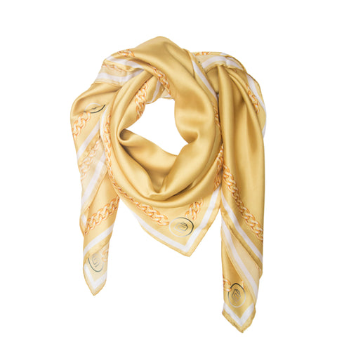 Soie Gold Chain Scarf