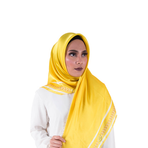 Soie Yellow Chain Scarf