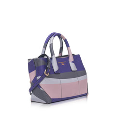 Nannini B10146-1 Medium Dual Satchel Wave Klein