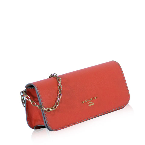B10099-3 Pochette Dual Leather Arancio