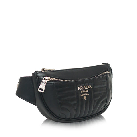 1BL008 Diagramme Leather Belt Bag