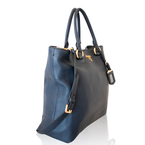 1BG865 Shopping Vitello Phenix Tote Baltico