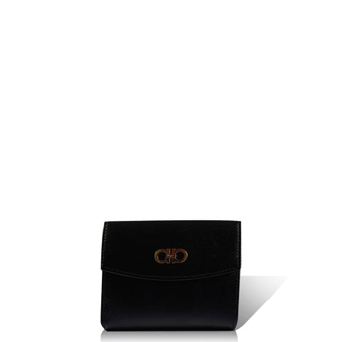 Women's Wallet Plain Style All Match Chic Bag Black in Black