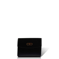 Salvatore Ferragamo Women's Wallet Plain Style All Match Chic Bag Black in Black