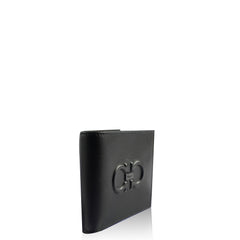 Salvatore Ferragamo Men's Wallet Firenze Logo in Black