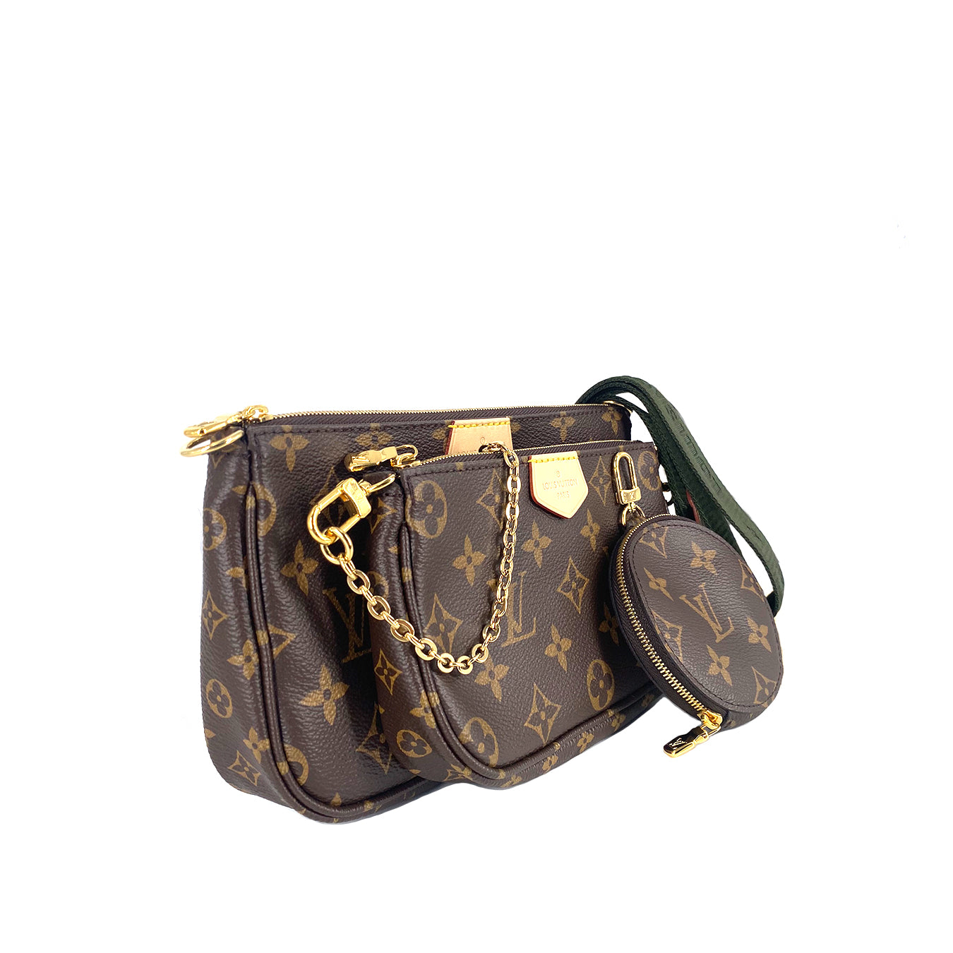 Louis Vuitton M44813  Multi Pochette Monogram VVN  Khaki
