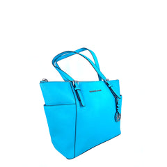 Michael Kors Jet Set item Aquamarini Zip Tote