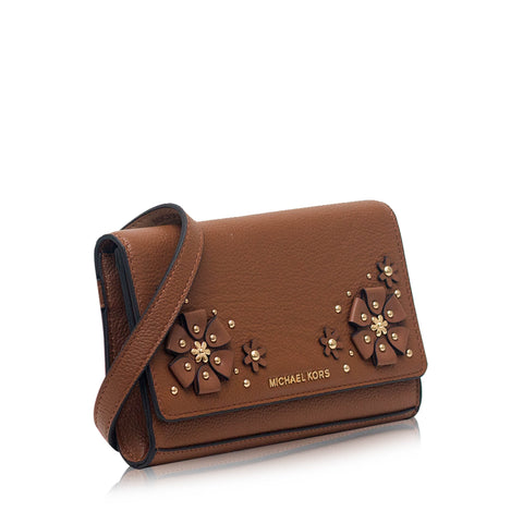 Michael Kors 3D Flower Garden Fanny Pack Brown