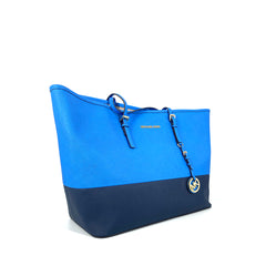 Michael Kors Jetset Travel Top Zip Tote HG Bag Blue NavY