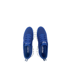 Prada 4E3499 Men's Blue Mesh Sneakers Size 7