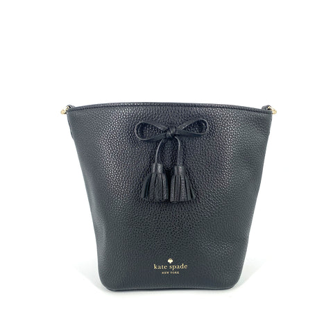 Kate Spade Vanessa Hayes Bucket Black Leather