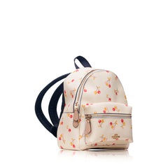 F31374 Mini Charlie Backpack with Cherry Print Chalk Multi