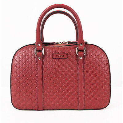 Gucci Micro Guccissima  Red Bag Crossbody