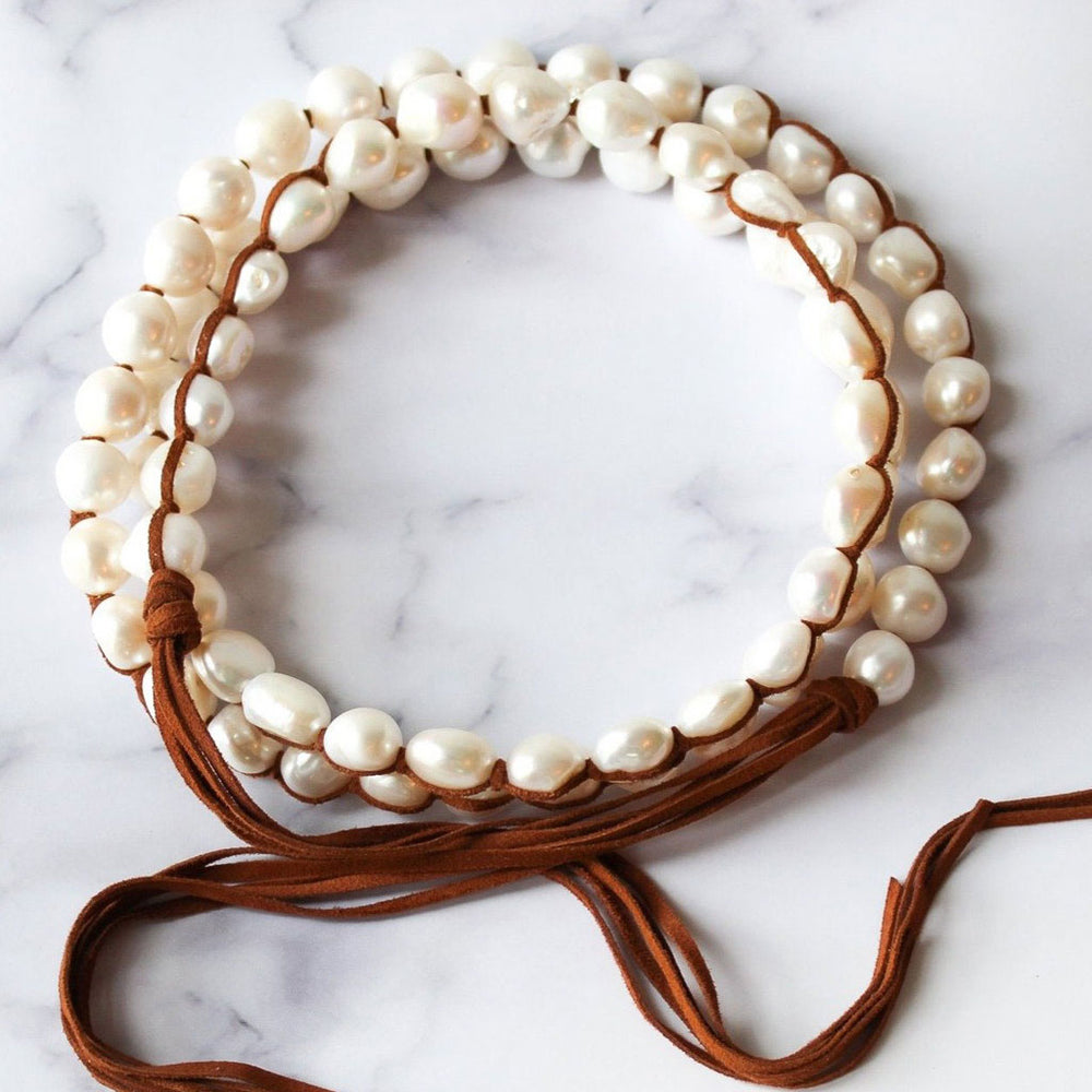 Load image into Gallery viewer, Classic Boho White (Large Pearls)