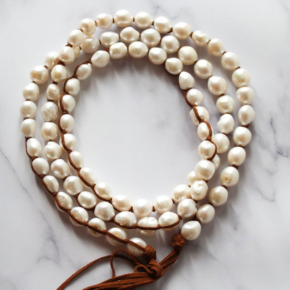 Classic Boho White (Medium Pearls)