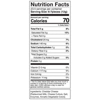 Moon Cheese Cheddar 10oz Nutrition Facts