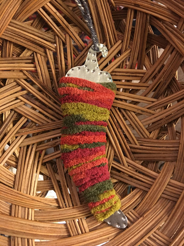 Multi Colored Tin Chile Ornament