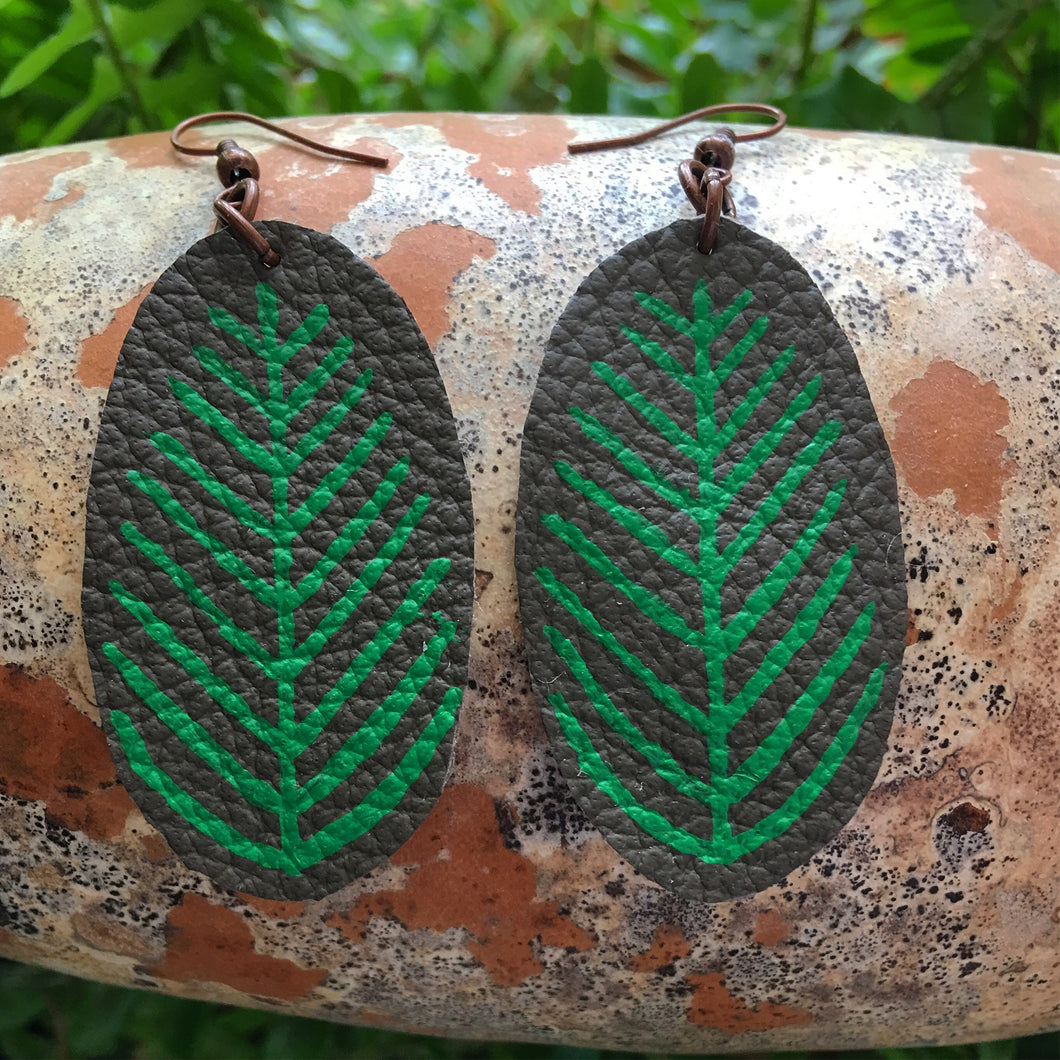 OVAL FERN | EARRINGS