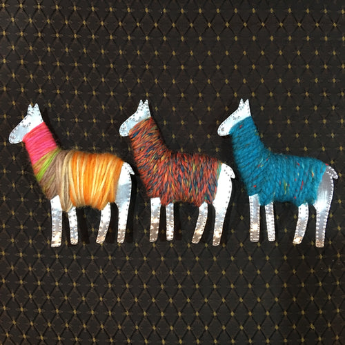 Tin and Yarn Llamas