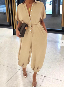 Hot Sale 🔥Sleeve Belted Shirt Jumpsuit