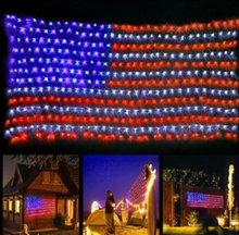 Load image into Gallery viewer, 【LAST DAY 50% OFF】AMERICAN FLAG 420 LED STRING LIGHTS-LARGE USA FLAG OUTDOOR LIGHTS