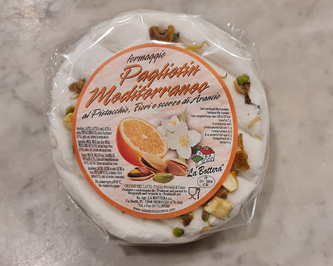 Paglietin Mediterraneo with pistachios, orange and flower zest 300g