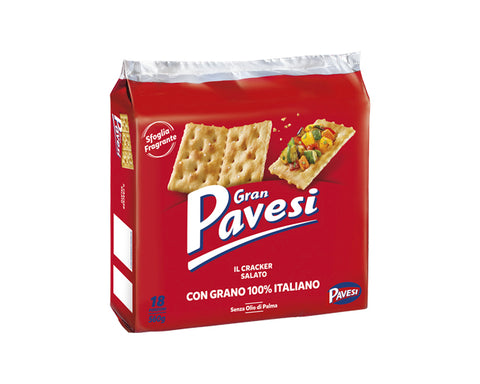 Salted Crackers Pavesi (560g)