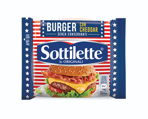 Sottilette Burger With Cheddar (185g) Kraft