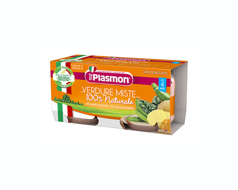 Plasmon Baby Food Mixed Vegetables (2x80g)