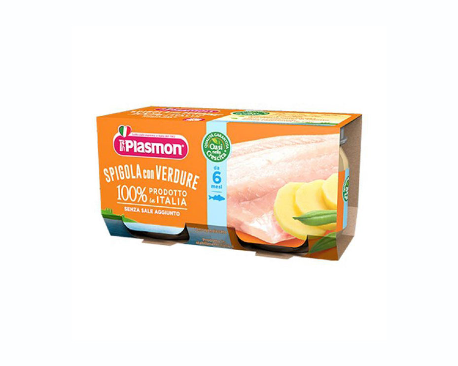 Plasmon Baby Food Spigola - European Bass and Vegetables (2x80g)