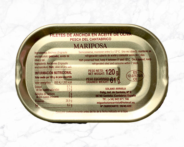 Butterflied Cantabrian Anchovies (120g)