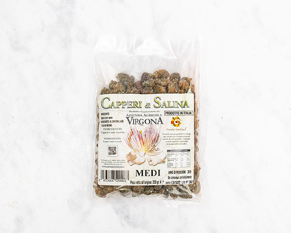 Medium Salina Capers (250g) - Gerardo di Nola