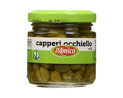 Small Capers in Vinegar D'amico 100g