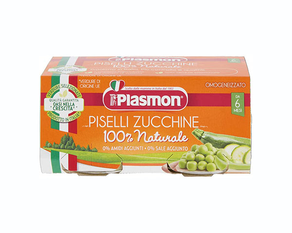 Plasmon Baby Food Peas and Courgettes (2x80g)