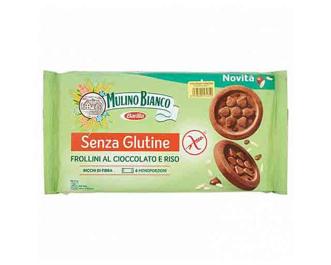 Gluten Free Frollini with chocolate and rice (250g) Mulino Bianco