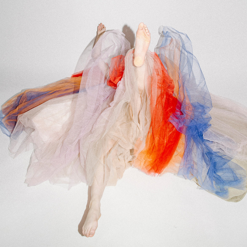 Multi-color tulle dress
