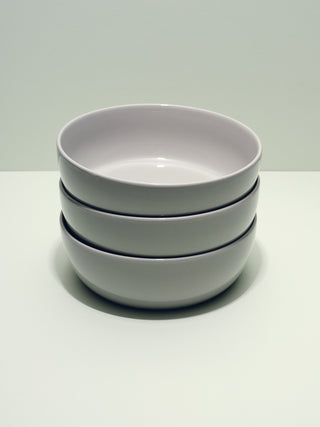 Grey ceramic bowls in stack