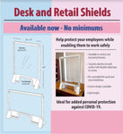 Plastic Desk and Retail Shields.