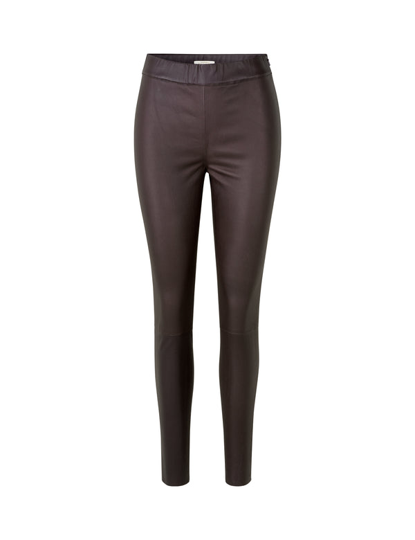 Mio Leather Leggings - Dark Chocolate