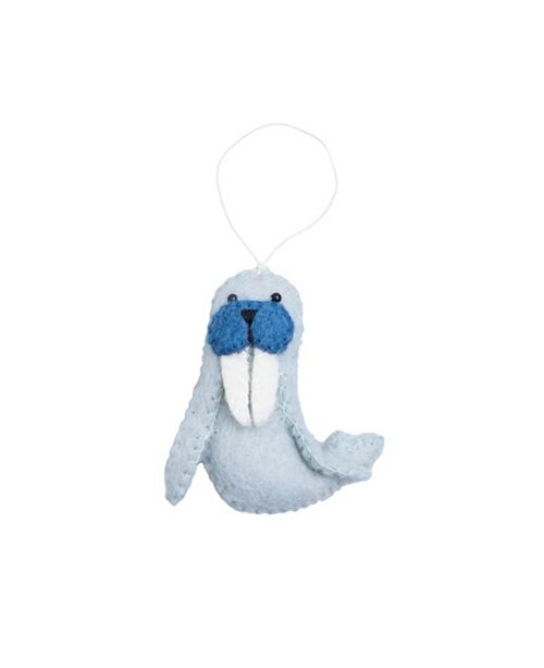 Felted Walrus Ornament