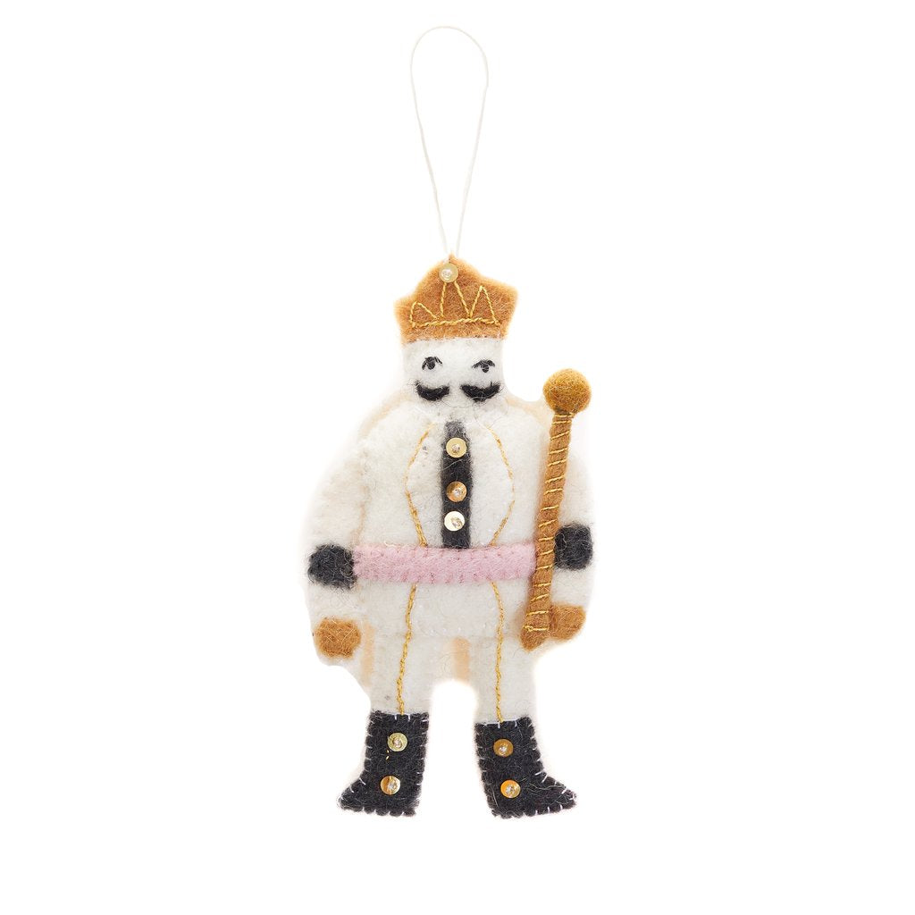 Felted Nutcracker Ornament