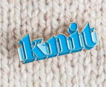 Load image into Gallery viewer, Knit Pin - Blue