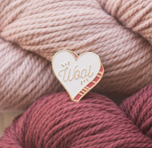 Wool Heart Pin