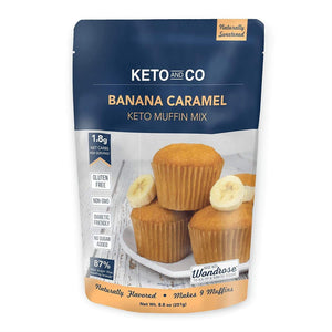 Banana Caramel Keto Muffin Mix - NutraVolts